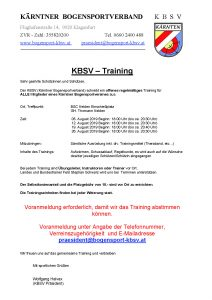Offenes Training